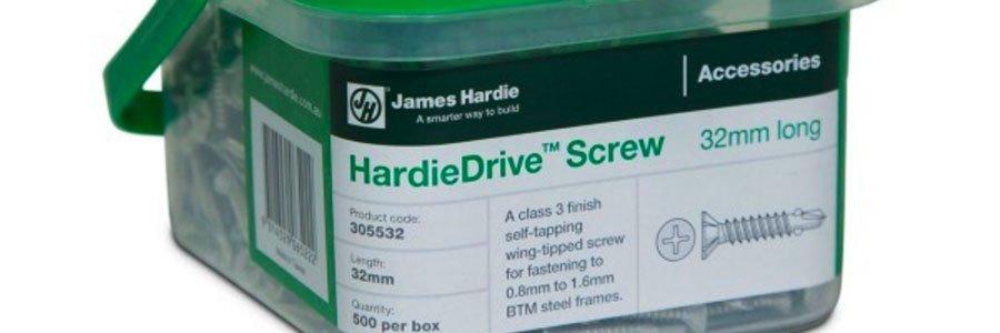 New Hardiedrive Screws Launch Plaster Metal Cladding