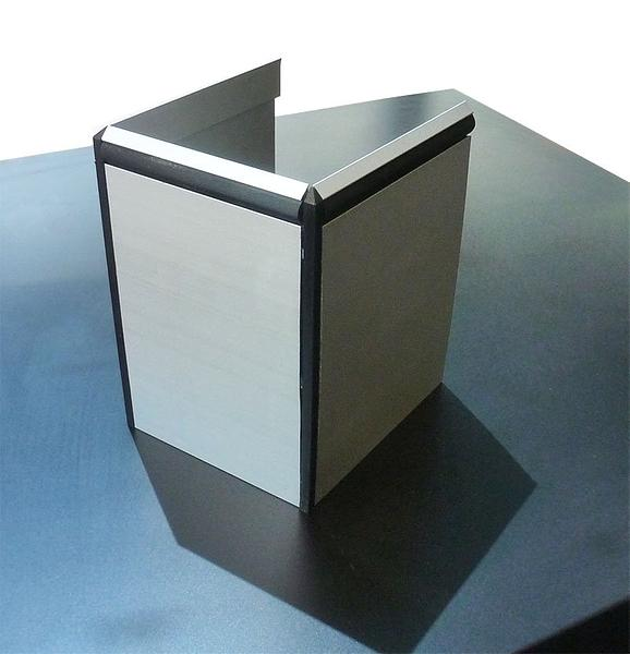Almet Aluminium Skirting - 3700mm lengths - Durable finish vailable in  100mm/125mm & 150mm thickness